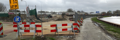 Fietspad Noord-Willemskanaal tijdelijk dicht en Fietstunneltje Martiniplaza definitief dicht