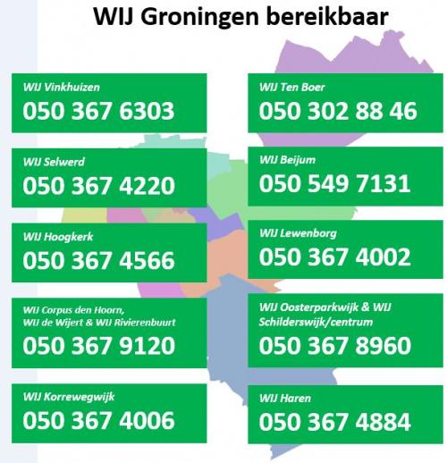 WIJ Groningen blijft tijdens coronacrisis bereikbaar