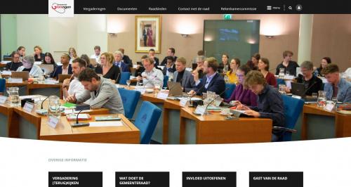 Nieuwe website raad: gemeenteraad.groningen.nl