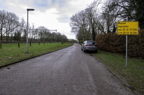 Parallelweg Glimmen van 25 januari t/m 5 februari gedeeltelijk dicht voor autoverkeer