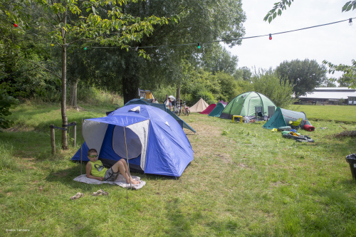 Opbouw buurtcamping Lewenborg in volle gang