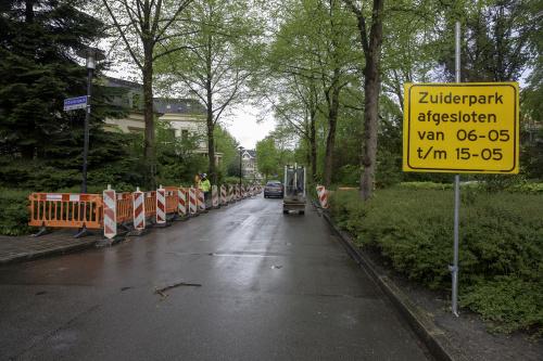Zuiderpark afgesloten voor verkeer tussen 6 en 15 mei